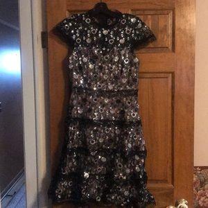 Alexis sequin floral dress